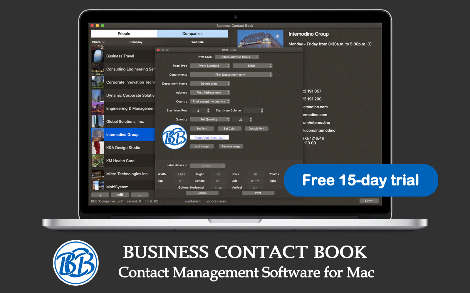 Business Contact Book - New Way in Contact Management